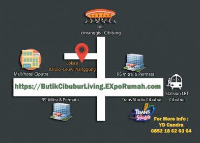 Butik Cibubur Living Kav 2 Rumah Harga 600 jutaan selangkah ke Plasa Cibubur